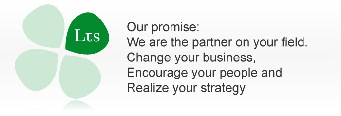 Our promise: We are the partner on your field. Change your business, Encourage your people and Realize your strategy